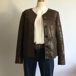 Lafayette 148 New York Textured Brown Jacket 14
